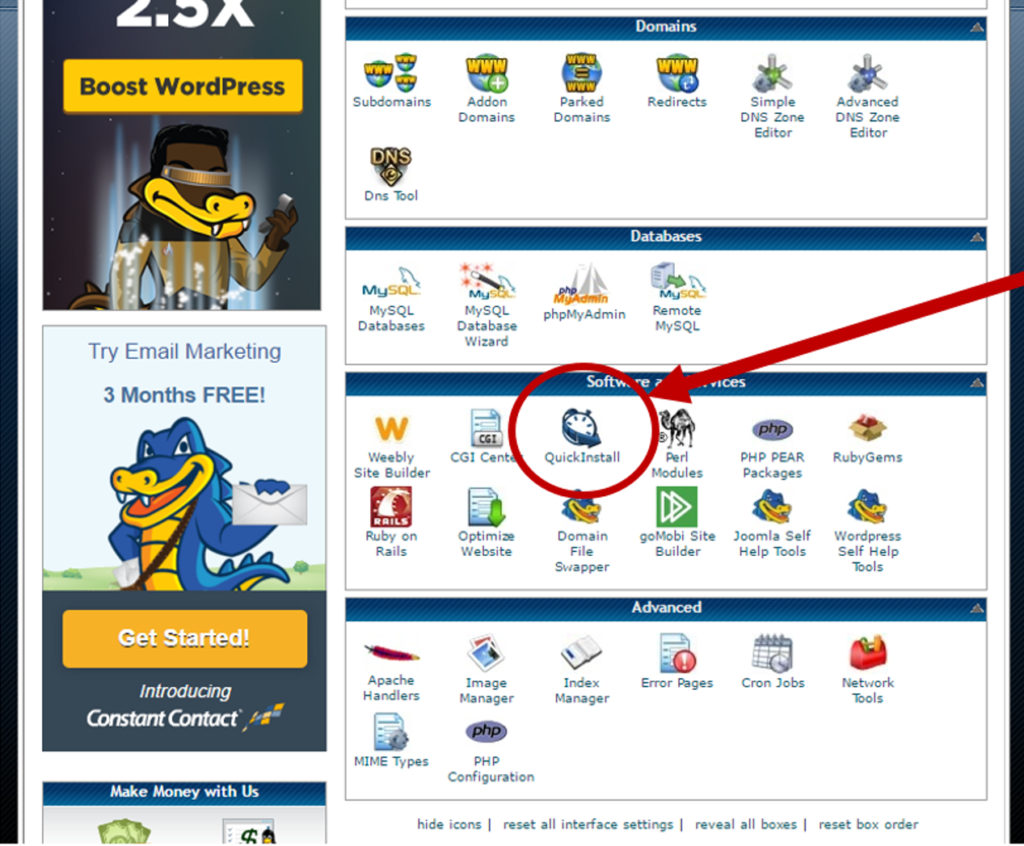 Install WordPress in HostGator