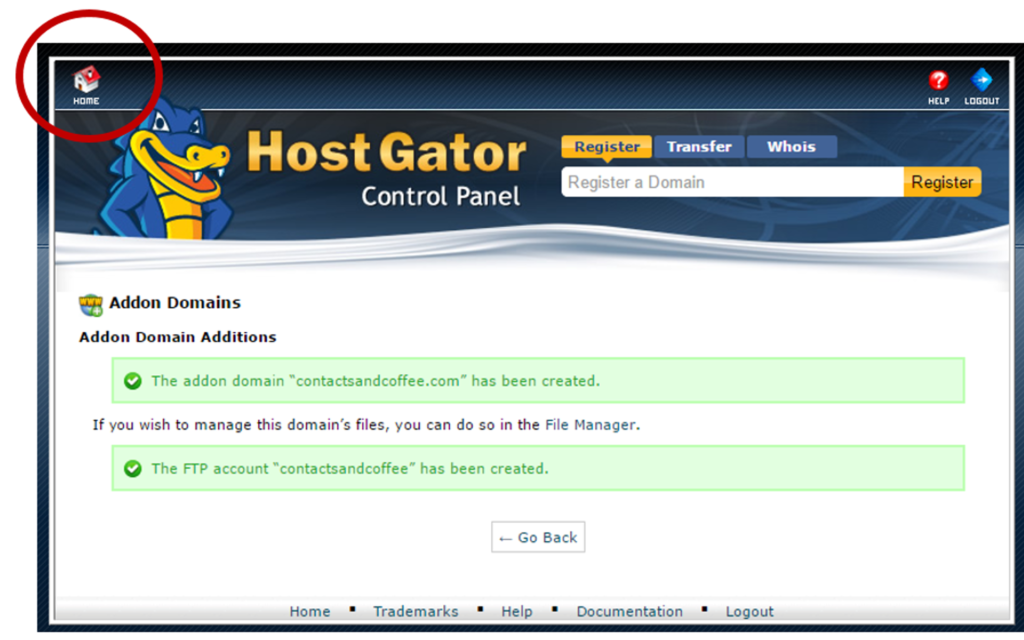 Add a Domain to your Hostgator account