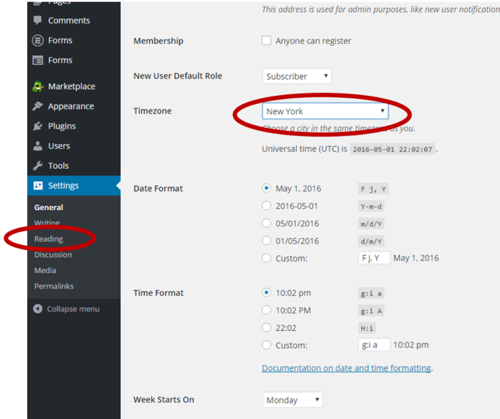 Configure WordPress General Settings