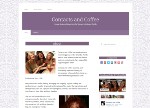 ContactsAndCoffee.com Screenshot